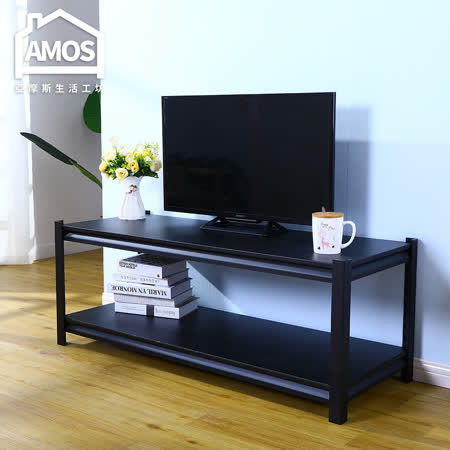 Amos 黑金剛免螺絲角鋼電視櫃