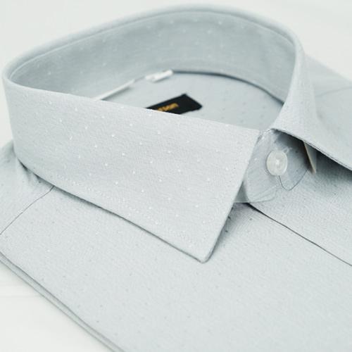 【金安德森】灰色點點窄版短袖襯衫