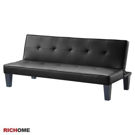 威利斯皮面沙發床-2色(黑色/咖啡)