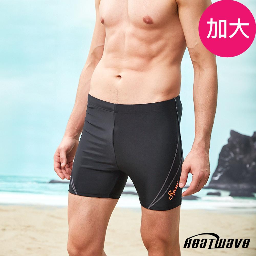 Heatwave熱浪 加大男泳褲 五分褲-亞士紳357(M-特大3XL)