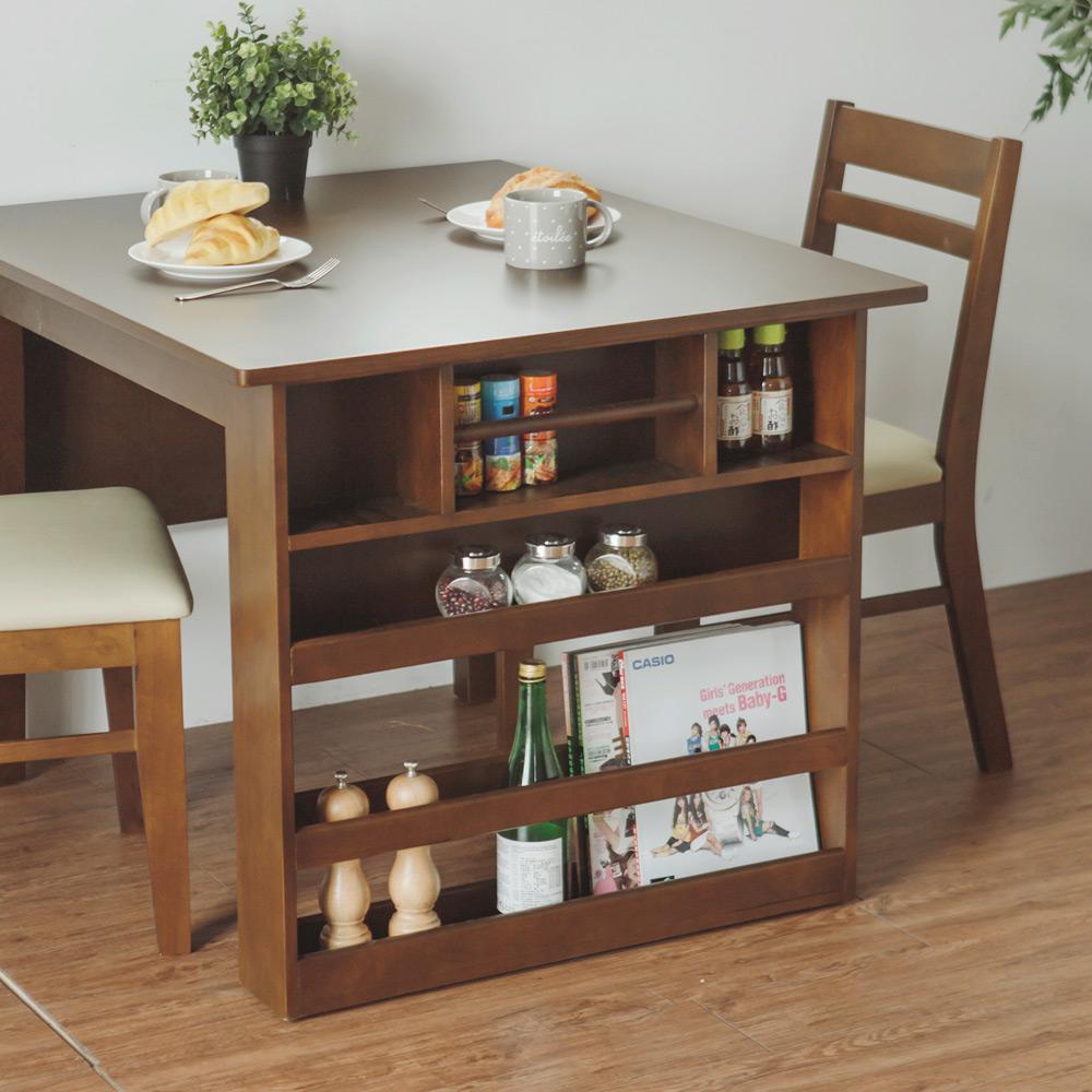 Peachy life 日系2~4人可伸縮收納餐桌/延伸桌/折疊桌(二色可選)