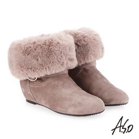 A.S.O阿瘦  內增高腿型修飾美靴