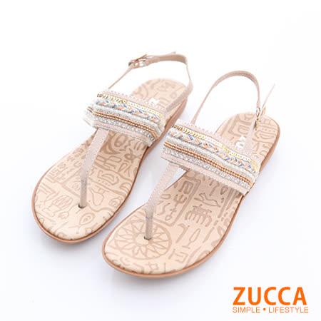 ZUCCA 編織T字夾腳涼鞋