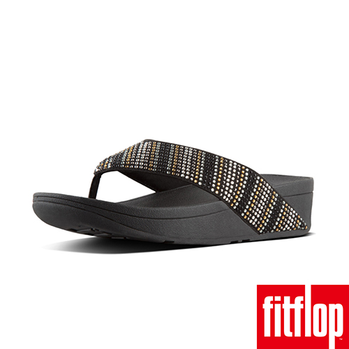 【FitFlop】STROBE TM TOE-THONG SANDALS 黑色