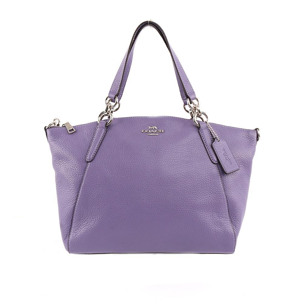 【COACH】馬車LOGO皮革二用包(紫色) F28993 SVOCB