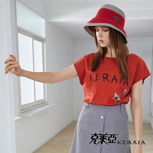 【KERAIA 克萊亞】嗡嗡小蜜蜂LOGO棉質上衣