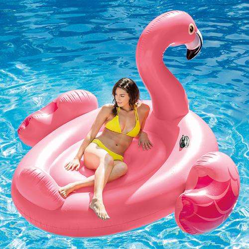 Intex 粉天鵝充氣水上浮板