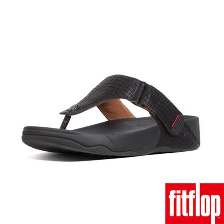 FitFlop 鱷魚紋魔鬼氈涼鞋