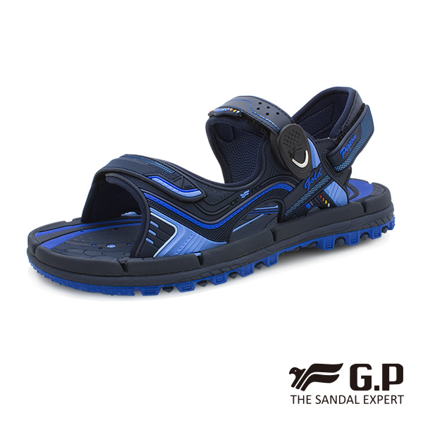 【G.P 透氣舒適磁扣兩用涼拖鞋】G9254 寶藍色 (SIZE:37-44 共三色)