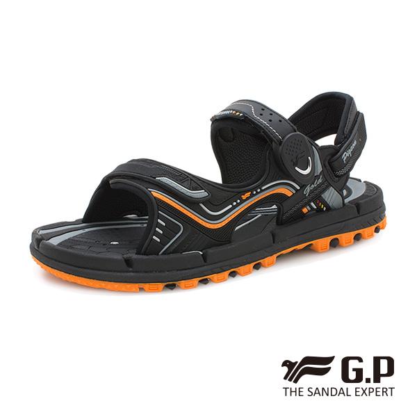 【G.P 透氣舒適磁扣兩用涼拖鞋】G9254 橘色 (SIZE:37-44 共三色)