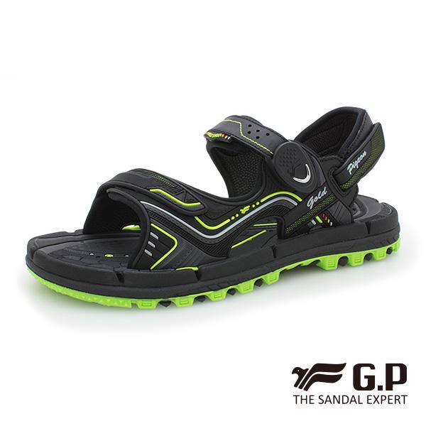 【G.P 透氣舒適磁扣兩用涼拖鞋】G9254 綠色 (SIZE:37-44 共三色)