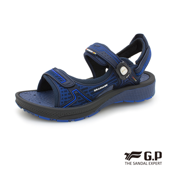 【G.P 透氣舒適機能磁扣兩用涼拖鞋】G9265M 藍色 (SIZE:39-44 共二色)