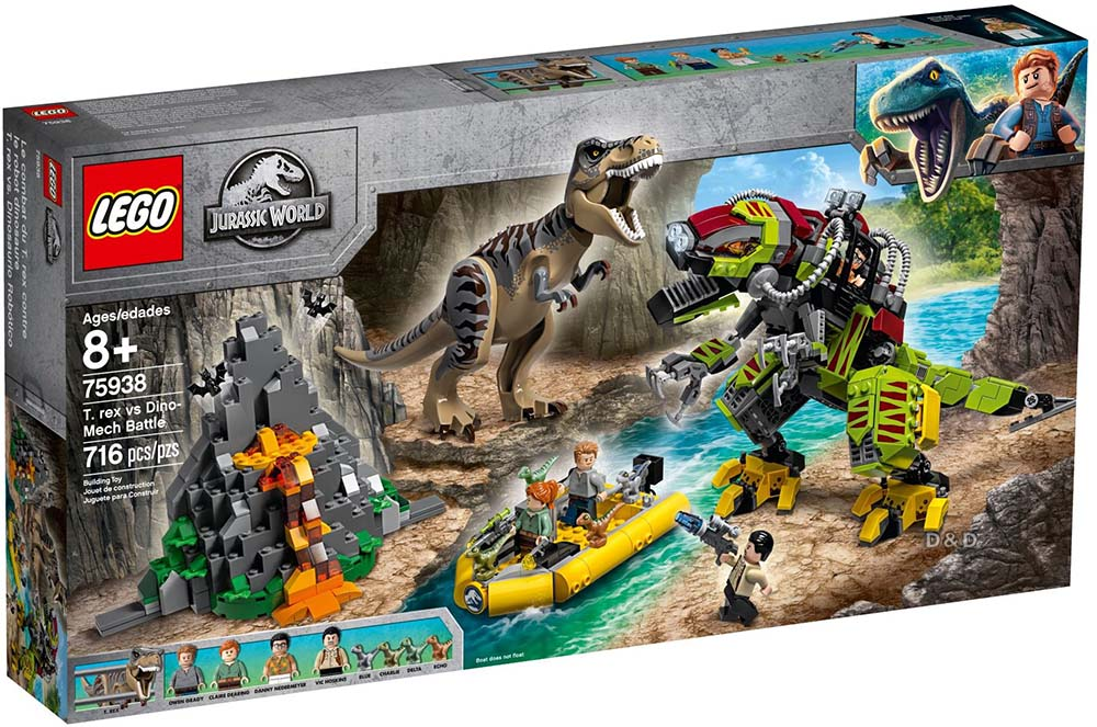樂高積木 LEGO《 LT75938 》Jurassic World 侏儸紀世界系列 - T. rex vs Dino-Mech Battle