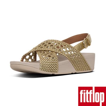 FitFlop 編織人造皮革涼鞋