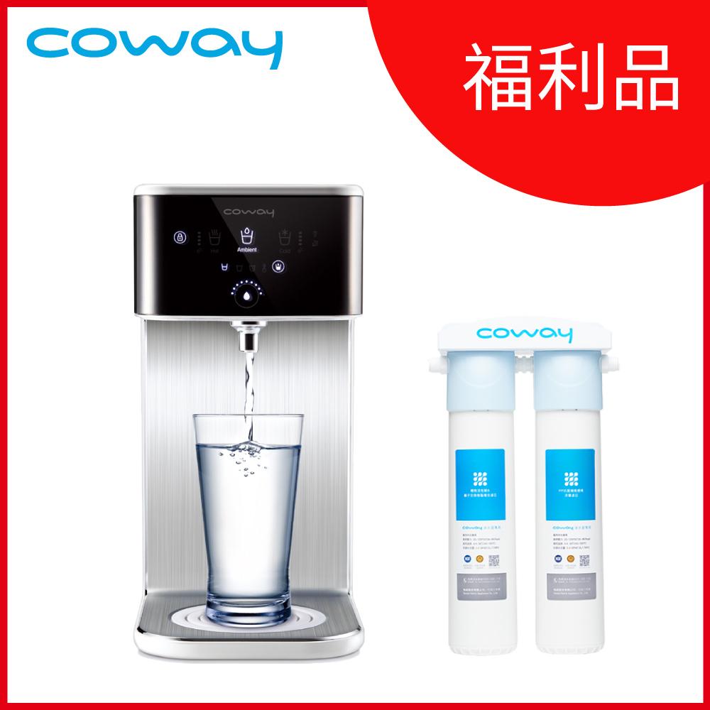 (福利品)Coway 濾淨智控飲水機 冰溫瞬熱桌上型CHP-241N