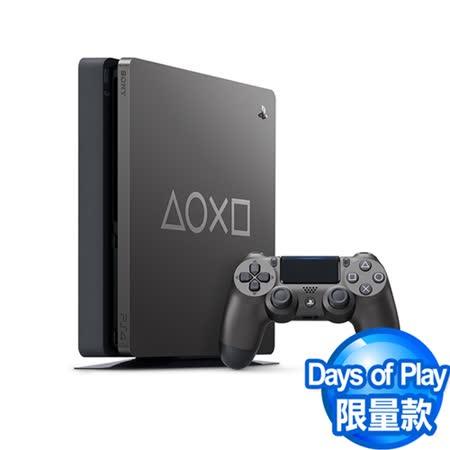 PS4 Slim 1TB  鋼鐵黑 Days of Play限量特仕機