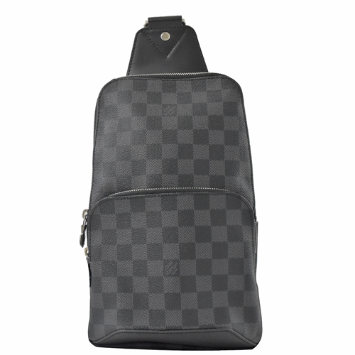Louis Vuitton LV N41719 AVENUE SLING 黑灰棋盤格紋斜/後背包_現貨