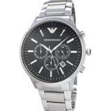 EMPORIO ARMANI AR2460 亞曼尼 大錶徑46mm 三眼計時 日期 黑面鋼帶 男錶