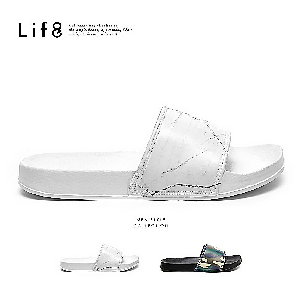 【Life8】Casual 輕量抗水 都會個性拖鞋 -09933
