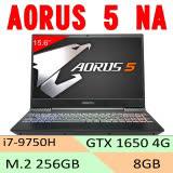 [ 技嘉 GIGABYTE ] AORUS 5-NA/i7-9750H/8GB/GTX1650 4GB/256G M.2 PCIe