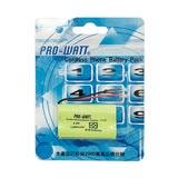 PRO-WATT 萬用接頭 無線電話電池2.4V1300mah (尺寸:AA*2)P330