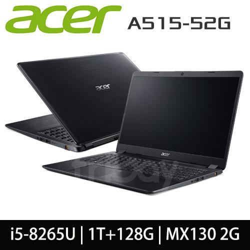 ACER 宏碁 A515-52G-59Q6 i5-8265U/4GB DDR4/1T+128G/MX130 2G/15.6吋霧面