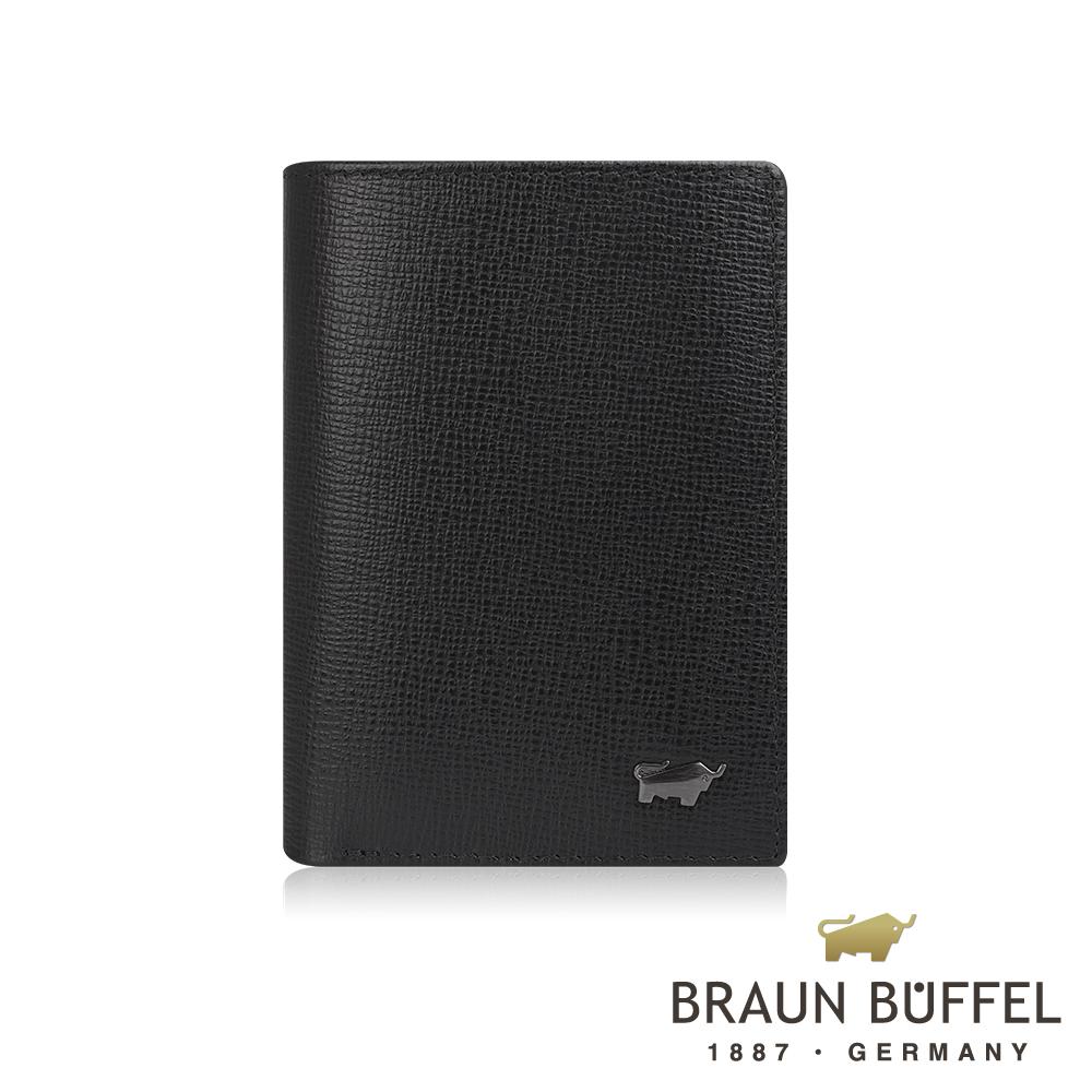 【BRAUN BUFFEL德國小金牛】阿梅爾系列3卡名片夾(黑色) /BF333-403-BK