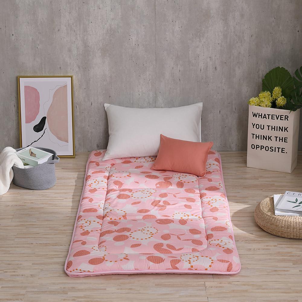 LAMINA 花漾北歐 100%純棉日式床墊5cm-粉(單人)