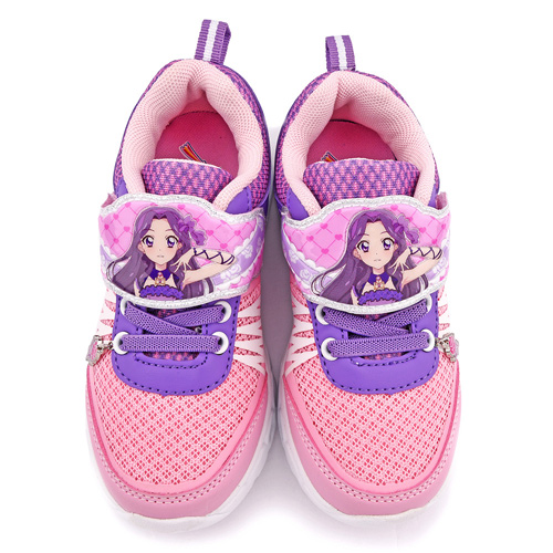 童鞋城堡-偶像學園 中大童 輕量透氣炫彩鞋底LED燈鞋ID5230-粉