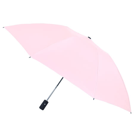 【2mm】原色調性黑膠降溫自動開收反向傘 (時尚粉)