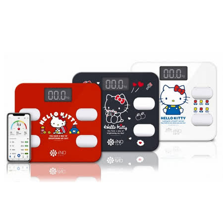 iNO Hello Kitty版 藍牙APP體重計-手機支援
