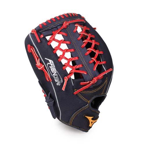 MIZUNO 壘球手套-外野手-棒球 壘球 左投 美津濃 丈青紅 F