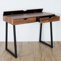 《Homelike》文斯工業風二抽書桌(兩色可選)