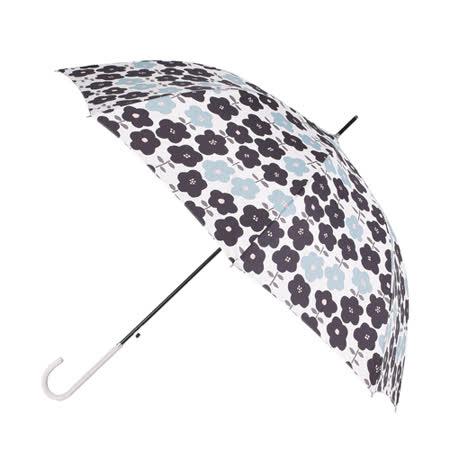 【2mm】花漾風情 晴雨兩用自動開直傘(白底小花)
