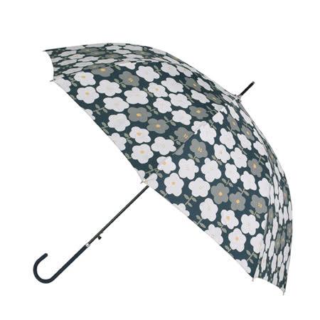 【2mm】花漾風情 晴雨兩用自動開直傘(綠底小花)