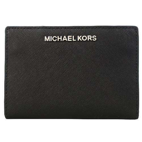 MICHAEL KORS 防刮卡片零錢夾(附名片夾)-黑