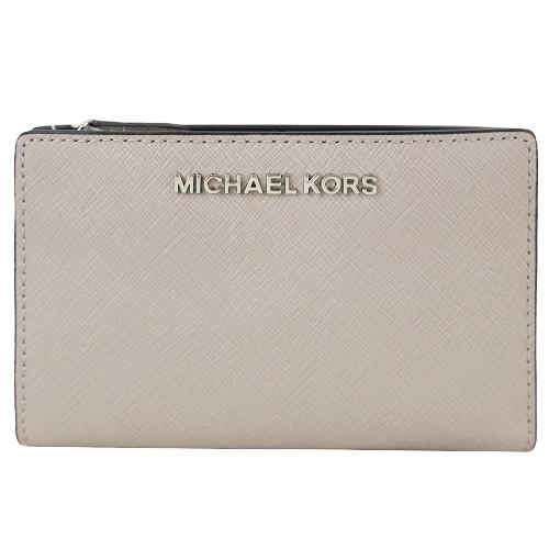 MICHAEL KORS 防刮卡片零錢夾(附名片夾)-水泥灰