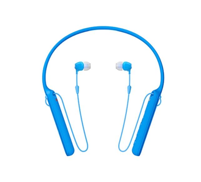 索尼SONY 無線藍牙頸掛入耳式耳機 WI-C400 (公司貨)藍色