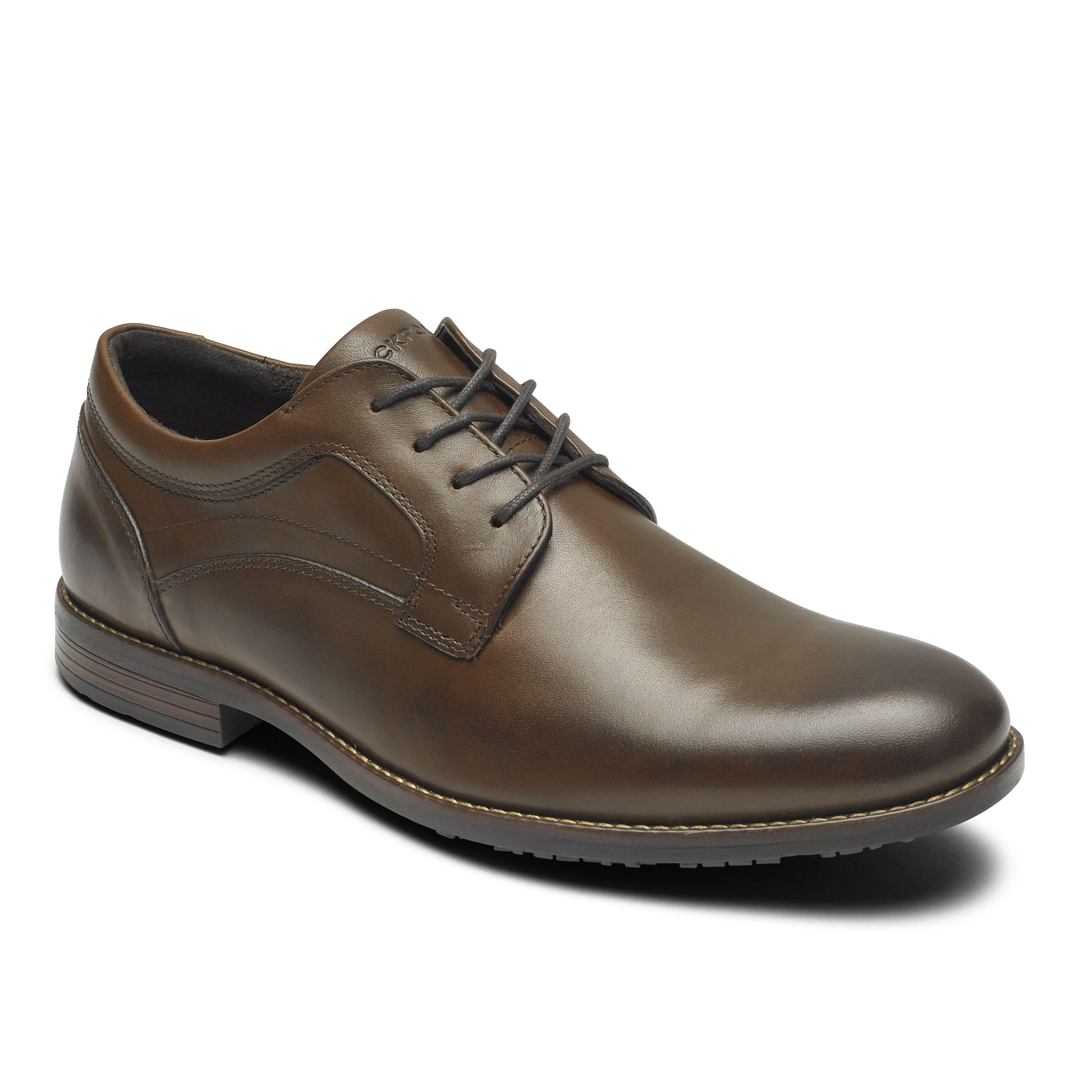 ROCKPORT 男 防潑水系列 業務最愛真皮紳士鞋-咖啡色ROM2293SD19