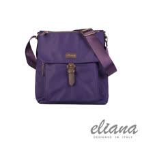【eliana 伊莉安娜】台灣總代理 微風 輕量蓋面斜背包-紫色/EN131S07PL