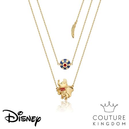 Disney 鍍14K金項鍊 小飛象馬戲團