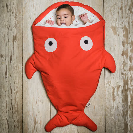 鯊魚咬一口 純棉嬰幼兒多功能睡袋