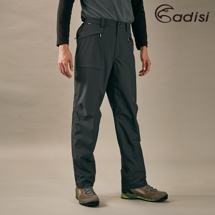 ADISI 男防水透氣保暖長褲AP1821040 (S-2XL) /  城市綠洲 (防水貼條、刷毛、TPU膜)