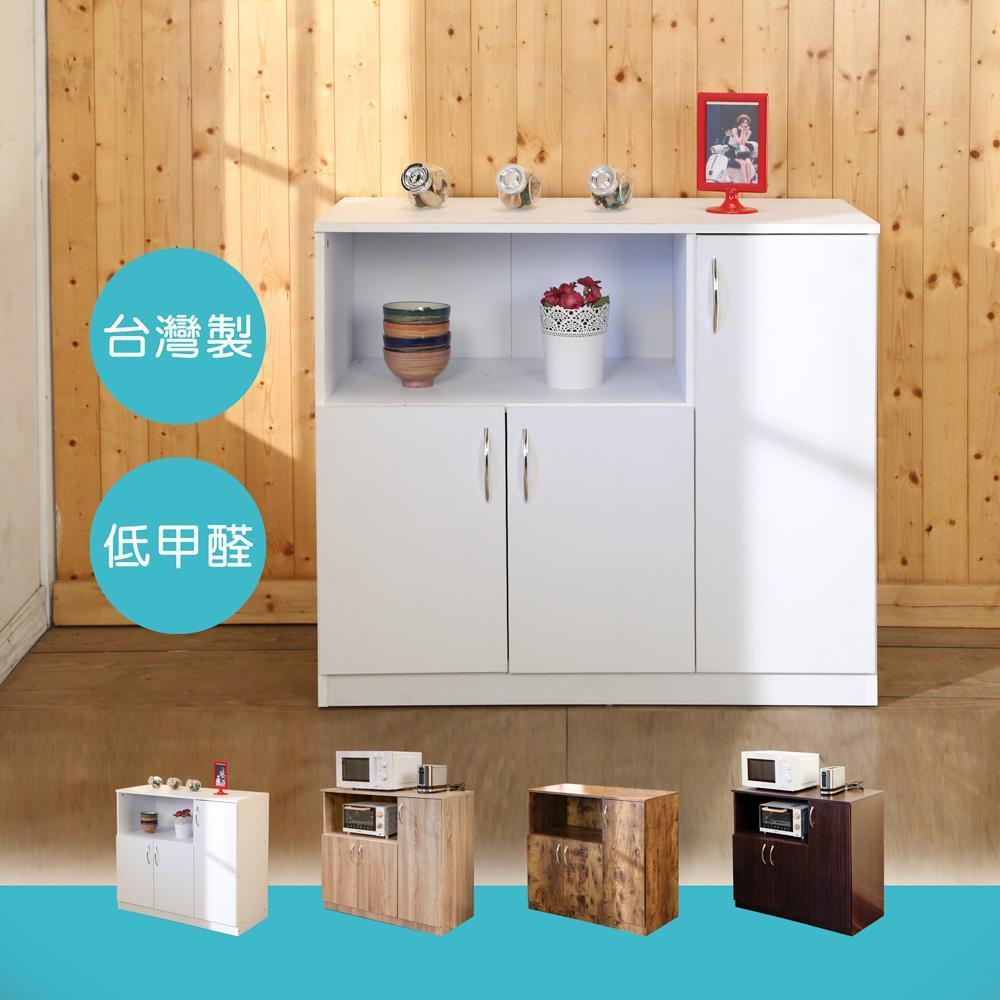 BuyJM低甲醛防潑水三門廚房櫃/收納櫃