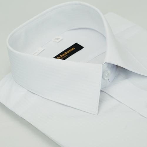 【金安德森】白色吸排窄版短袖襯衫