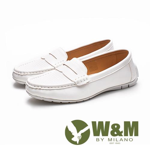 W&M 十字壓紋便仕樂福鞋 女鞋 - 白(另有黑)