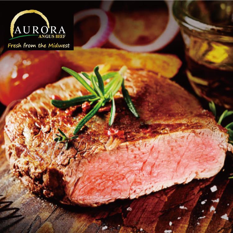 【欣明生鮮】美國奧羅拉極光黑牛PRIME霜降牛排2片組(260公克/1片)