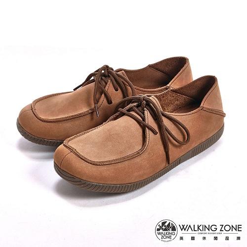 【WALKING ZONE】 (女)可踩式雙穿休閒女鞋-棕(另有紅、藍)