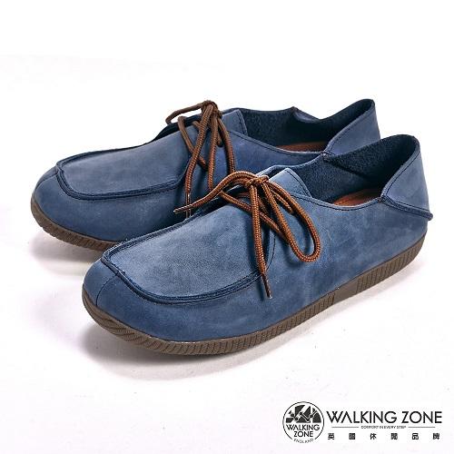 【WALKING ZONE】 (女)可踩式雙穿休閒女鞋-藍(另有紅、棕)