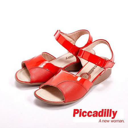 Piccadilly  魚口楔型涼鞋